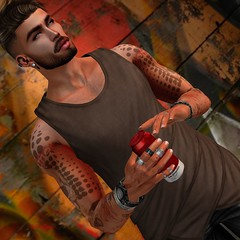 ♔♔372♔♔ (levinpearl) Tags: etham james tank top mister razzor aaron facial hair