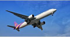 Thai Airways HS - TKW (Stefan Wirtz) Tags: hstkw zrh lszh thaiairways thaib777 thaiboeingb777 boeing boeingb777 b777 b7773d7er kloten zürich zürichairport zürichflughafen zurich kantonzürich airportzürich aeroportzurich flughafenzürich flughafen flugzeug passagiermaschine passagierjet jet jetplane düsenjet plane planewings airplane aeroplane widebody langstreckenflugzeug grossraumflugzeug tamron canon schweiz suisse switzerland runway runway34 arrival himmel