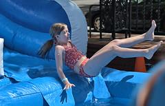 The Water Slide (Scott 97006) Tags: girl kid fun play water slide midair gravity cute