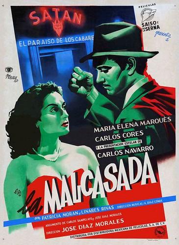 """Cartel de la película """"La Malcasada"""" (1950, José Díaz Morales). Ilustrado por Josep Renau"""