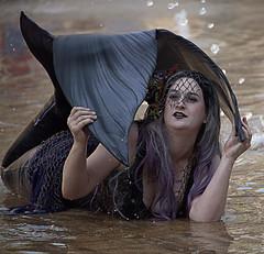 Wet Mermaid (Scott 97006) Tags: woman mermaid actress costume water fin beauty