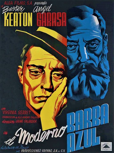 """Cartel de la película """"El Moderno Barba azul"""" (1946, Jaime Salvador). Ilustrado por Josep Renau Cartel de la película """"El Moderno Barba azul"""" (1946, Jaime Salvador). Ilustrado por Josep Renau"""