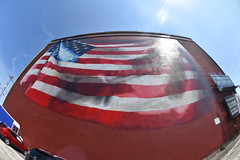 Our Flag Unfurled - my favorite #mural in #PhiladelphiaPhiladelphia   #philly  #flag. #americanflag (buzmurdockgeotag) Tags: mural philadelphia philly flag americanflag