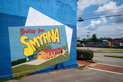 Greetings from Smyrna (Tennessee) (Mr. Pick) Tags: mural smyrna tn tennessee rutherford county csx train frontstreet