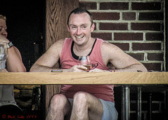 Big Smile (ViewFromTheStreet) Tags: allrightsreserved berks berkscounty blick blickcalle blickcallevfts calle copyright2019 pennave pennavenue pennsylvania photography readingpa stphotographia streetphotography viewfromthestreet westreading westreadingpa alfresco amazing bar beer brick candid cell classic male man mobile phone portrait reading smile smiling street streetportrait vftsviewfromthestreet wall ©blickcallevfts ©copyright2019blickcalle