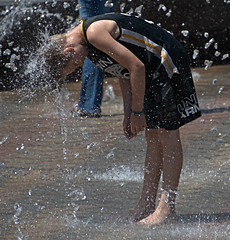 Water Jets & Sunshine (Scott 97006) Tags: boy kid play water fun park