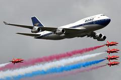 G-BYGC (GH@BHD) Tags: gbygc boeing 747 744 b747 b744 747400 747436 ba baw britishairways retrojet boac speedbird jumbo bae baehawk britishaerospace hawkersiddeley hawkt1 raf redarrows riat riat2019 royalinternationalairtattoo aircraft aviation fairford raffairford