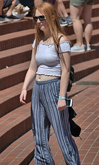 Redheaded Lady (Scott 97006) Tags: woman female lady redhead pretty sunshine cute sunglasses