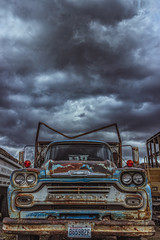 Ol' Blue (PNW-Photography) Tags: rusty rust dusty dust old derelict abandoned washington naches truck trucks pickup classic vintage cloudy clouds