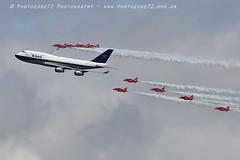 7453 RAFAT & BOAC BA 747 flypast (photozone72) Tags: riat fairford aircraft airshows airshow aviation canon canon7dmk2 canon100400f4556lii 7dmk2 raf rafat redarrows reds redwhiteblue ba britishairways ba100 boeing747 jumbojet flypast hawk