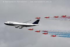 7466 RAFAT & BOAC BA 747 flypast (photozone72) Tags: riat fairford aircraft airshows airshow aviation canon canon7dmk2 canon100400f4556lii 7dmk2 raf rafat redarrows reds redwhiteblue ba britishairways ba100 boeing747 jumbojet flypast hawk