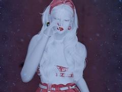 smoking again (Tympany) Tags: yummy amitomo doux glamaffair genus cureless albino whitehair pale redandwhite cubiccherry backdropcity blueberry exia maitreya epiphany kustom9 equal10 kokolores smoking busbeuniquestore