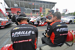 Camirand's Crew - NASCAR Pinty's Series qualifying, Toronto 2019 (Richard Wintle) Tags: honda indy toronto streetsoftoronto exhibitionplace ntt nttdata indycar nascar pintys qualifying pitlane crew marcantoinecamirand gmpaille pitwall