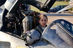 Hellenic Female F-4 Fighter Pilot (Γυναίκα Πιλότος RF-4E Phantom II Αχιλλεία Γεωργακίλα) (aviatrix20141) Tags: haf πιλότοσ γυναίκα γεωργακίλα αχιλλεία rf4ephantomii phantom rf4e f4 greek hellenic femalepilot flightsuit female squadron girl lady woman women she her green womeninuniform girlsinuniform sexy lipstick earings smile eyelashes ponytail hair ladylike gloves makeup eyebrow beautiful gorgeous pretty hot babyface baby babe cute lovely airforce olive aviator aviation helmet visor oxygen mask gsuit cockpit lifejackat survivalsuit fighteraircraft fightersquadron pilotlife خلبان بانو دختر زن زنان خلبانزن نيروي هوايي پرواز هوانوردي زيبا خانم survivalvest