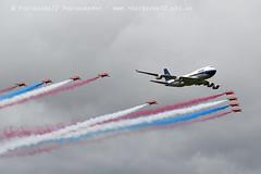 7486 RAFAT & BOAC BA 747 flypast (photozone72) Tags: riat fairford aircraft airshows airshow aviation canon canon7dmk2 canon100400f4556lii 7dmk2 raf rafat redarrows reds redwhiteblue ba britishairways ba100 boeing747 jumbojet flypast hawk