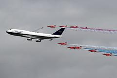 7460 RAFAT & BOAC BA 747 flypast (photozone72) Tags: riat fairford aircraft airshows airshow aviation canon canon7dmk2 canon100400f4556lii 7dmk2 raf rafat redarrows reds redwhiteblue ba britishairways ba100 boeing747 jumbojet flypast hawk