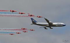 BA100 5 20190720 (Steve TB) Tags: canon eos7dmarkii riat 2019 raffairford rafat redarrows hawkt1 britishairways boeing 747 boac ba100