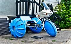 Aqua Trike - Ottawa  07 19 (Mikey G Ottawa) Tags: mikeygottawa canada ontario ottawa street city retail bikedump bicycleshop recycler tricycle watertrike trike