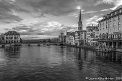 20190428 Zurich at Dusk26405-Edit-Edit (Laurie2123) Tags: fujixt2 laurietakespics laurieabbotthartphotography vacation blackandwhite monochrome dusk zurich monotone bnw laurie2123
