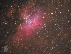 M16 The Eagle Nebula (Dark Arts Astrophotography) Tags: astrophotography astronomy space sky stars star science m16 eaglenebula dso dark dsva deepsky cluster nebula milkyway night nature natur nightscape nightsky ngc kingston kingstonist ygk