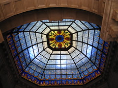 Indiana State Capitol ~ Indianapolis Indiana ~  Dome Skylight (Onasill ~ Bill Badzo - 67 M) Tags: indianapolis in indiana state house capitol classic revival dome supreme court downtown nrhp historic register government attraction walking tours canal walk beax arts classical tour guided site must see onasill building architecture roof rotunda skylight stain glass stainglass