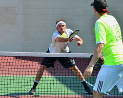 Sean at Net (rochpaul5) Tags: pickleball action sports paddle net ball