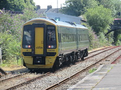 Dorchester: Great Western Class 158, Dorchester West (Dorset) (michaelday_bath) Tags: firstgreatwestern dorchester dorset brclass158