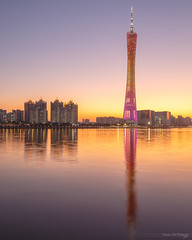 Sunset behind tower (kevinho86) Tags: eos6d canon colour canton city cityscapes landmark lightshadow longexposures reflection pearlrivernewtown 珠江新城 feelings 建築 城市 天空 空 guangzhou landscape scenery scape downtown twilight art wideangle citylights water 天際線 simple architecture ef1635f4lusm