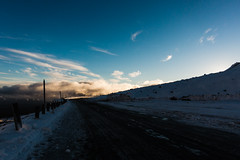 Ray Catcher (OzGFK) Tags: canons100 nz newzealand cold compactcamera snow winter sunset afternoon warmglow warmcolour sundown evening orangesun clouds carpark wintersport contrast shadow silhouette turoa ski field