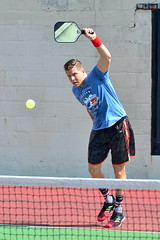 Lefty Backhand (rochpaul5) Tags: pickleball action sports paddle net ball