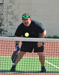at net (rochpaul5) Tags: pickleball action sports paddle net ball