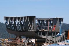 2019-07-20 US Navy Tugboat YT-808 (1024x680) (-jon) Tags: anacortes fidalgoisland sanjuanislands skagitcounty skagit washingtonstate salishsea guemeschannel portofanacortes dci dakotacreekindustries boat ship vessel tug tugboat shipyard boatyard us navy yardtugboat build new yt808 yt802 hull steel ribs construction a266122photographyproduction harbortug 808class usn