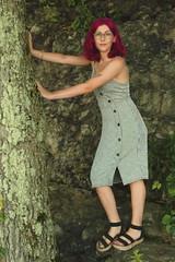 Pynk Like... 22 (Abbie Stoner) Tags: pink hair girl model woman portrait trees lake reservoir dagger tattoo moody pynk summer