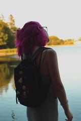 Pynk Like... 25 (Abbie Stoner) Tags: pink hair girl model woman portrait trees lake reservoir dagger tattoo moody pynk summer