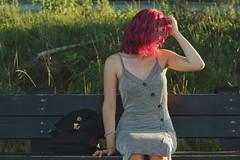 Pynk Like... 7 (Abbie Stoner) Tags: pink hair girl model woman portrait trees lake reservoir dagger tattoo moody pynk summer