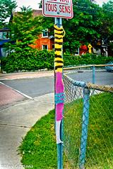 Knit-Bombed - Ottawa  07 19 (Mikey G Ottawa) Tags: mikeygottawa canada ontario ottawa street city graffiti wool yarn knit knitted knitbombed yarnbomb