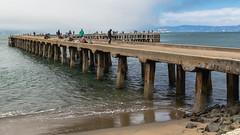 Fishing pier (mpalmer934) Tags: fishing dock pier ocean bay san francisco california alcatraz prison sky scenic view scenery wide angle