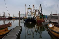 Port in Den Oever (Julysha) Tags: ship boats denoever thenetherlands noordholland evening summer july 2019 d7200 acr tokina12244 rainy reflection