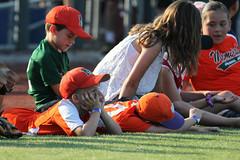 Kiddos lounging on the field before the game (Minda Haas Kuhlmann) Tags: sports baseball milb minorleaguebaseball omahastormchasers nebraska omaha outdoors sarpycounty papillion fans onfieldpromotions
