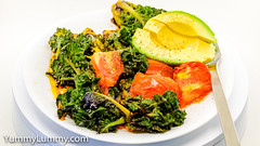 Sunday lunch. Pan-fried kale sprouts, tomato, and Red Leicester cheese with avocado (garydlum) Tags: avocado kalesprouts redleicester tomato canberra australiancapitalterritory australia