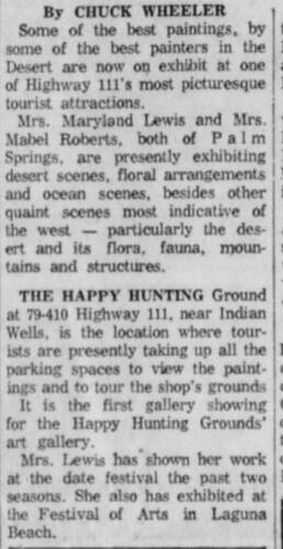 Indio Happy Hunting Ground 2 of 6 Desert Sun 5-16-1960