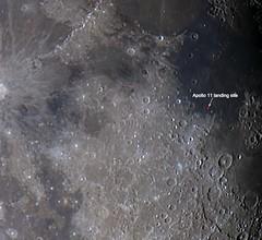 Apollo 11 landing site on the moon (Daniel_Koehn) Tags: moon apollo 11 landing site