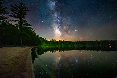 Deer Lake Reflections (The Charliecam) Tags: michigans upper peninsula milky way michigan favorites great lakes lake superior stars tamron 1530mm night sky nightscape photography canon 6d