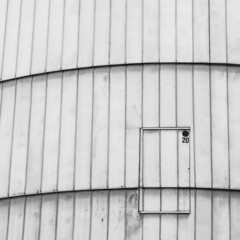 Hold the door ! (philippe baumgart) Tags: strasbourg alsace architecture elsass street urbain urban blackandwhite noiretblanc minimalism