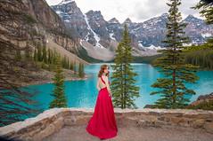 The View (Christy Turner Photography) Tags: alberta morainelake canada rockies reddress oliviaseipert petitemodels modeling yyc