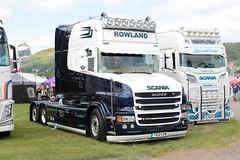 Rowland Scania T560 TE12CAB Malvern Truckfest 2019 (davidseall) Tags: rowland scania t560 te12cab malvern truckfest 2019 te12 cab t v8 tcab show lorry tractor unit truck large heavy goods vehicle lgv hgv haulage artic worcestershire uk