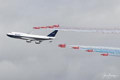 4B9A4989 G-BYGC 190721 EGVA copy (Glenn Beasley) Tags: ba gbygc boac retro redarrows aviation ba100 riat riat2019 raffairford