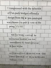 I noticed this gag on the tiled foot tunnel under Blackfriars Bridge (Steve Bowbrick) Tags: blackfriarsbridge london mural tile wall joke history