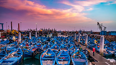Sunset in the harbour of Essaouira (Morocco) (patuffel) Tags: essaouira bluehour blue hour boat ship ships boats harbour marokko morocco leic leica m10 28mm summicron 20 sunset
