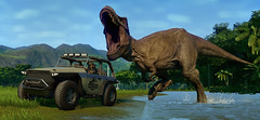 Objects in mirror are closer than they appear (GHOSTanbul) Tags: jurassic park evolution trex carnivore dinosaur